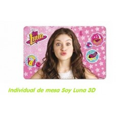 INDIVIDUAL DE MESA SOY LUNA 3D
