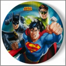 PRATO 23CM JUSTICE LEAGUE PACK 8