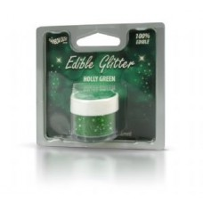 EDIBLE GLITTER HOLLY GREEN RAINBOW DUST 5g