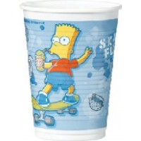 8 COPOS PLASTICO 20CL THE SIMPSONS